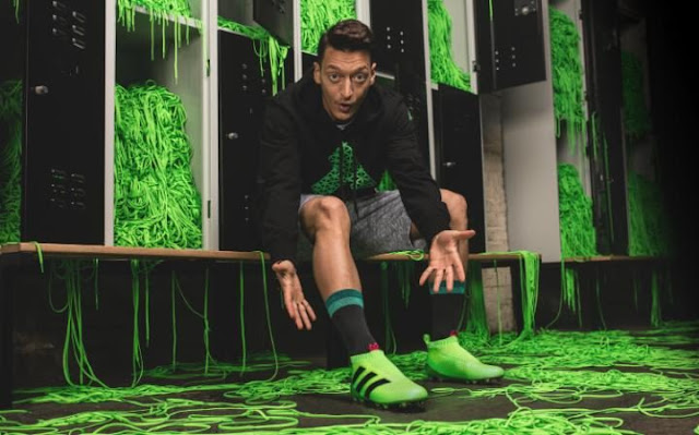 Mesut Ozil will wear the Premier League's first laceless boots on Sunday (Picture: adidas)