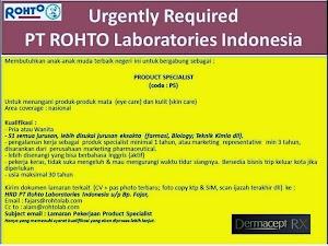 Lowongan Kerja Rohto Laboratories