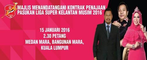 Jersi Baru Kelantan TRW 2016 Liga Super