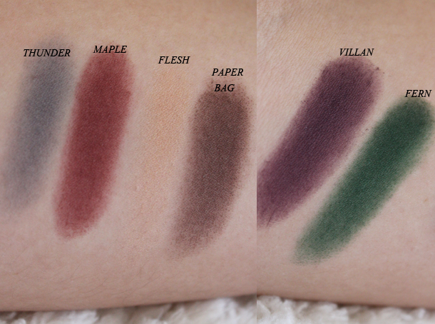 sleek ultra matts v2 palette swatches