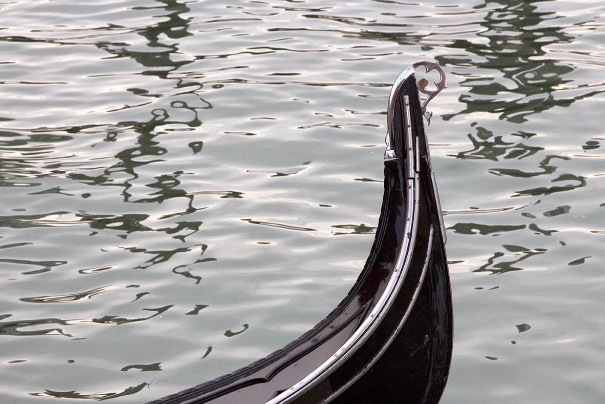 stern of a Venetian gondola