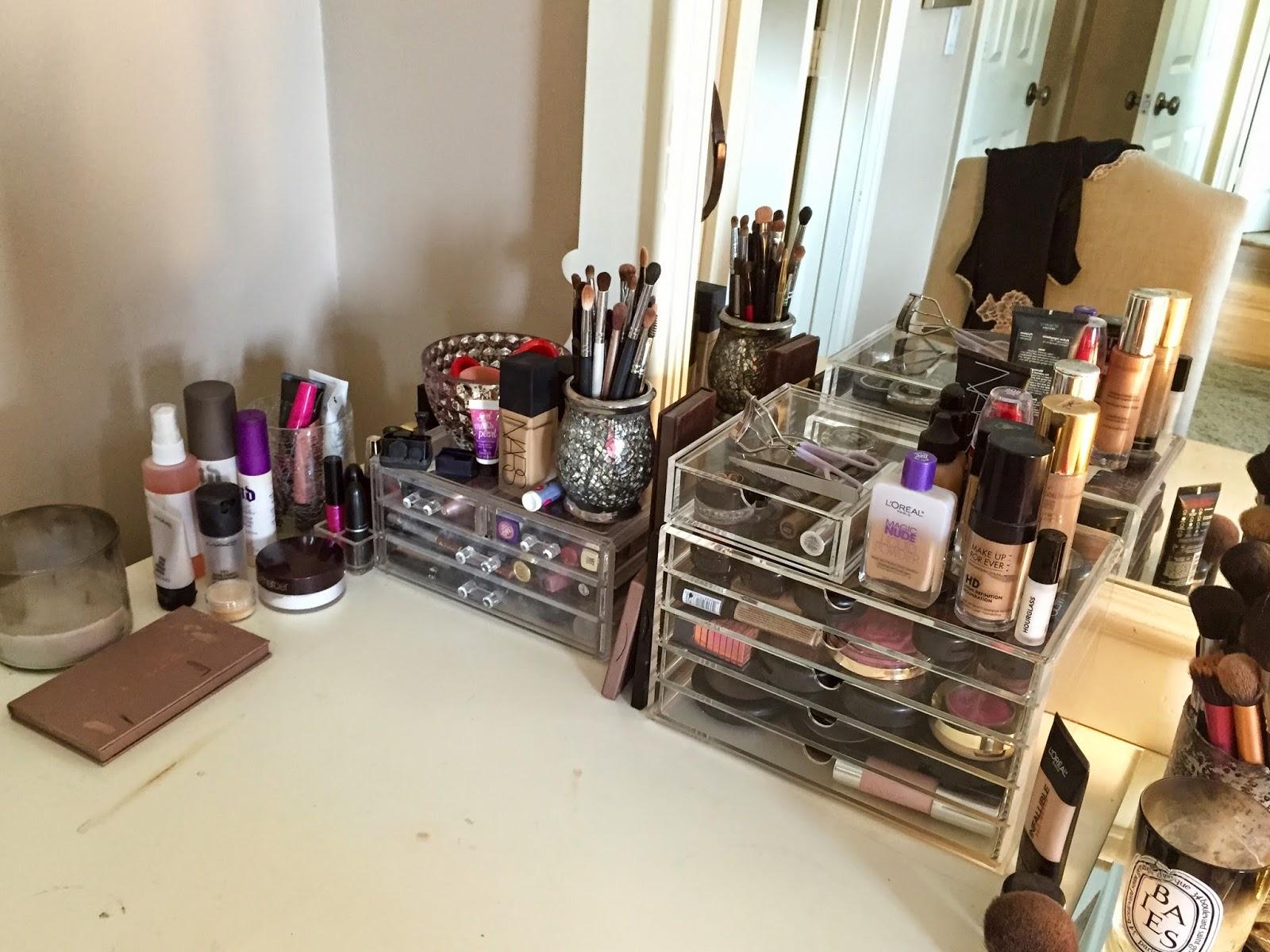 Design Makeup Organization makeup organization feat muji acrylic storage cori scherer makeup