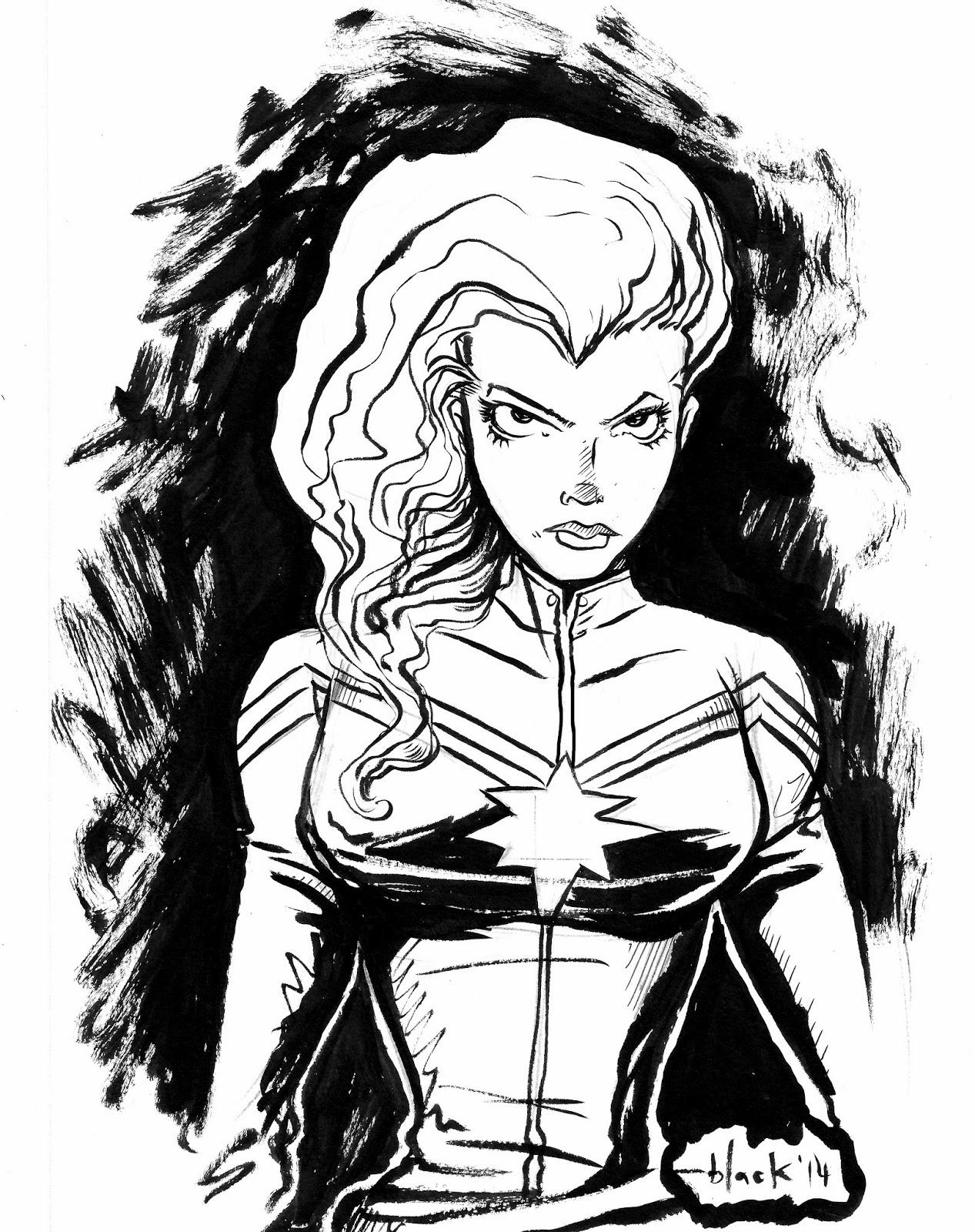 Marvel\'s Carol Danvers aka Captain Marvel. First sketch of 2014 ...