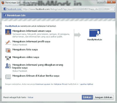 tampilan facebook to excel