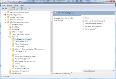 Enable/Disable Task Manager using gpedit.msc