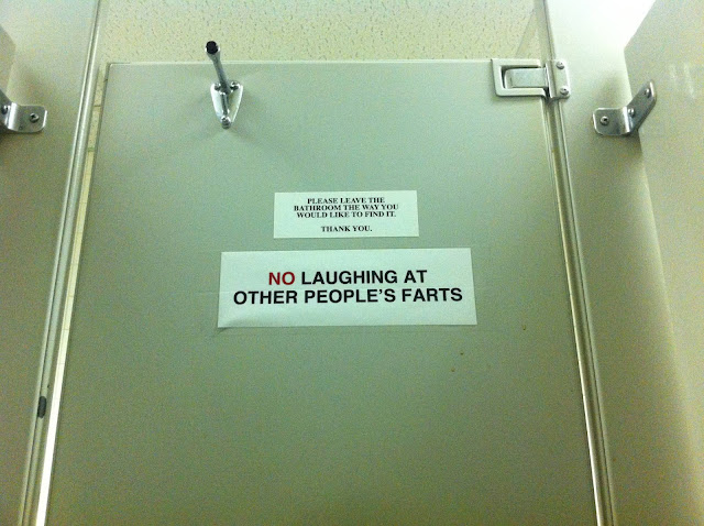 No Laughing at Other People's Farts, funny toilet signs