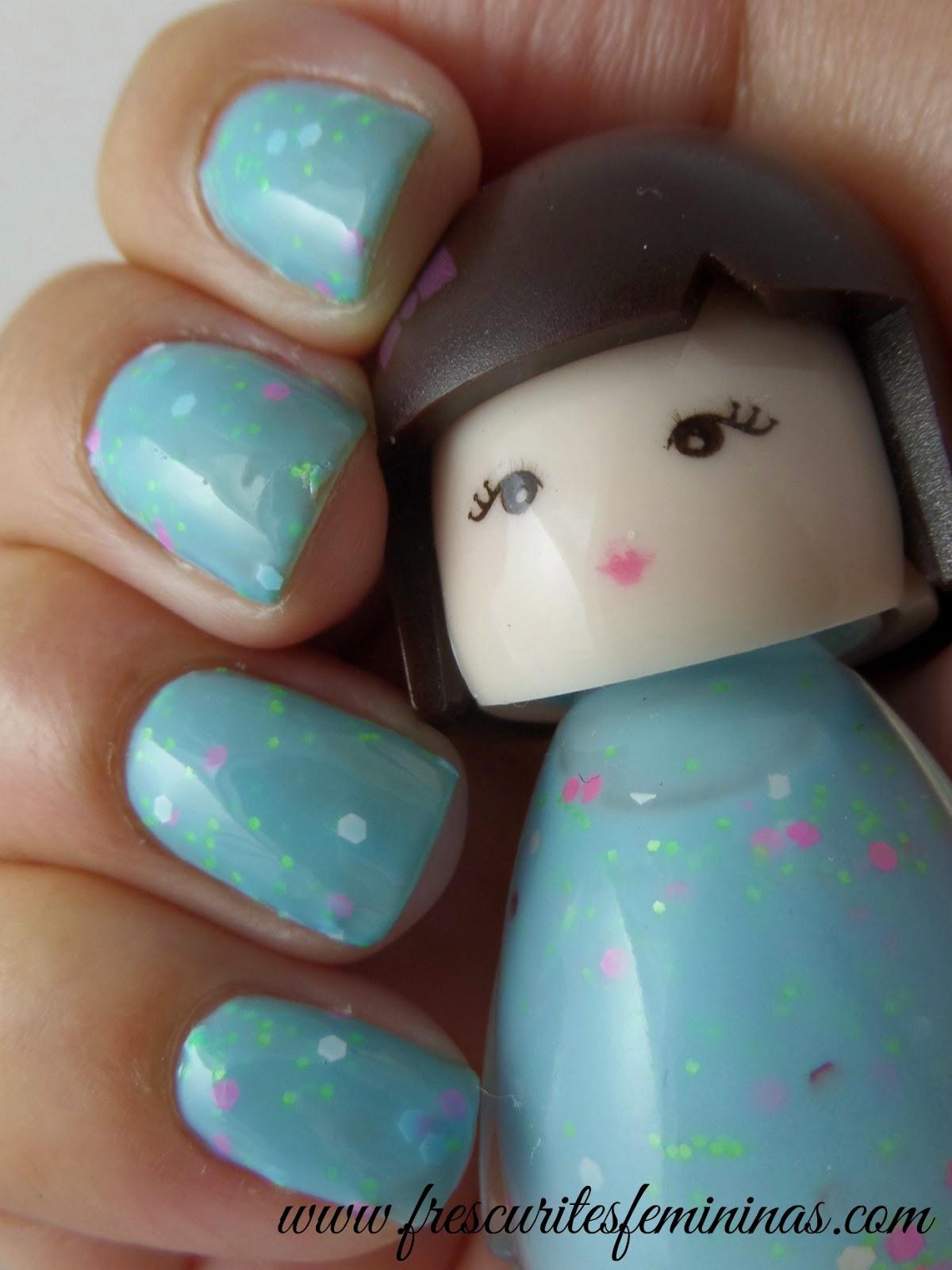 Frescurites Femininas, 42, blue nails