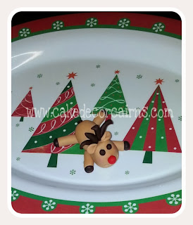 Rudolf Christmas Cupcake Toppers Cairns