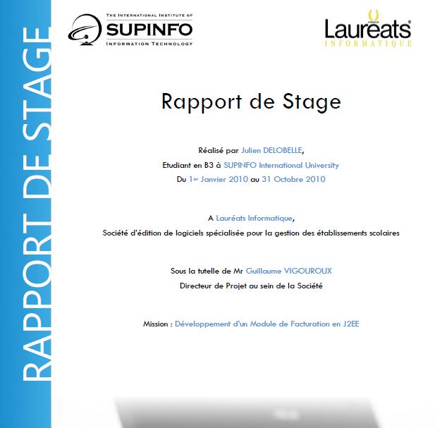 rapport de stage d u00e9veloppement d u2019un module de facturation