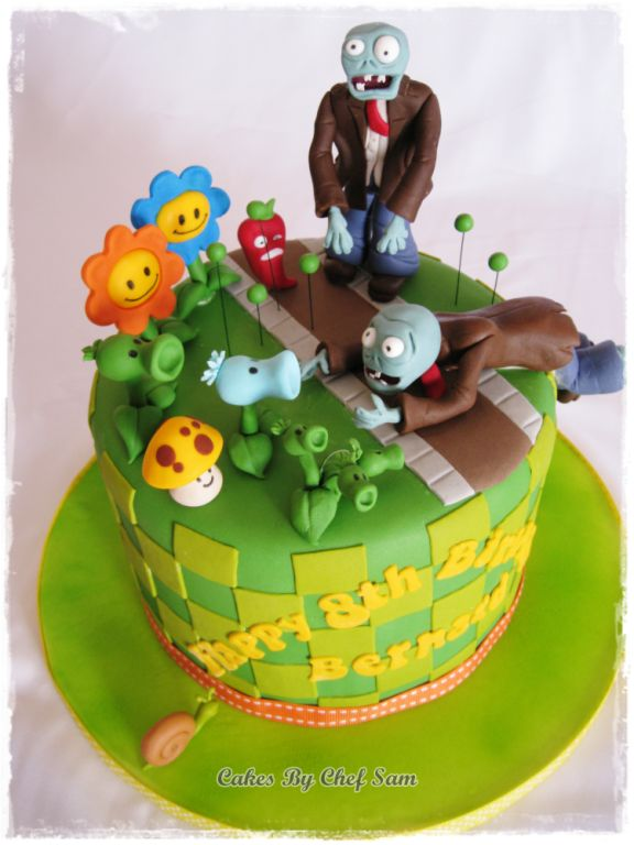 plants vs zombies cake ideas