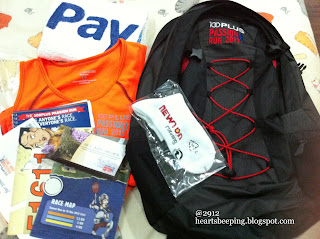 Singapore 100 Plus Passion Run 2012 race pack collection at Velocity Novena