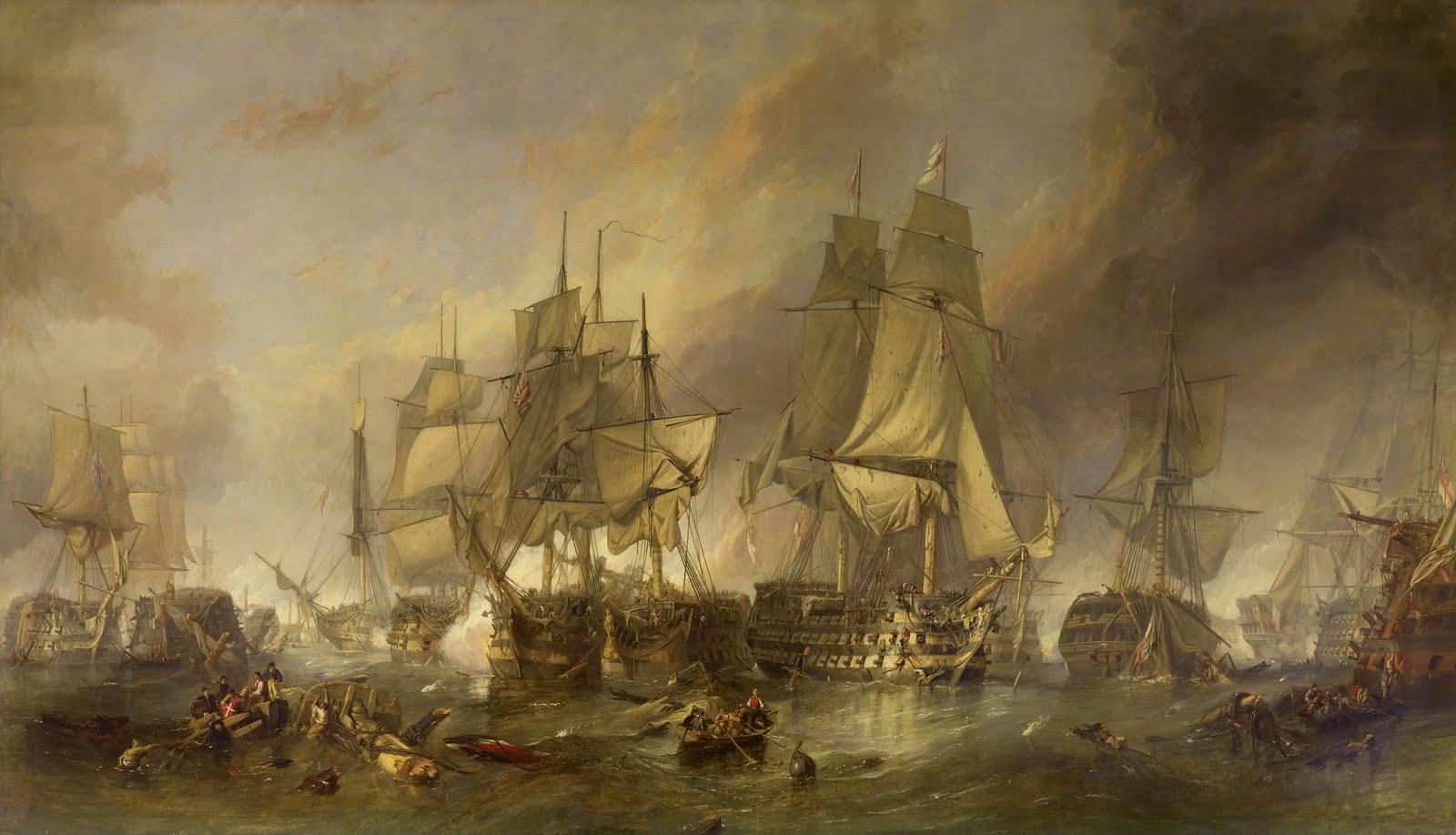 Battle Of Trafalgar Bataille De Batalla 1805
