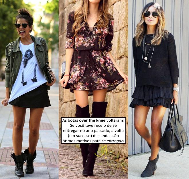 botas e roupas curtas