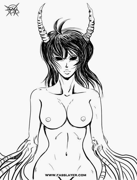 sexy naked demon