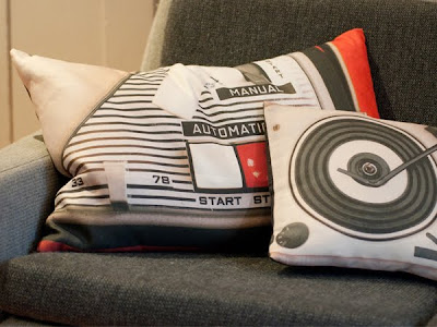 PorTables linen cushions made in UK by Ella Doran