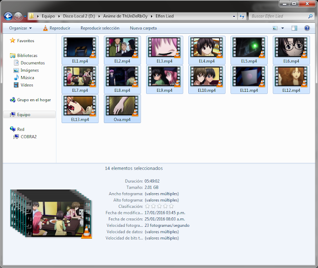 9GB|Another + Elfen Lied+Ovas|Mega|HD 720p|Taykun7000