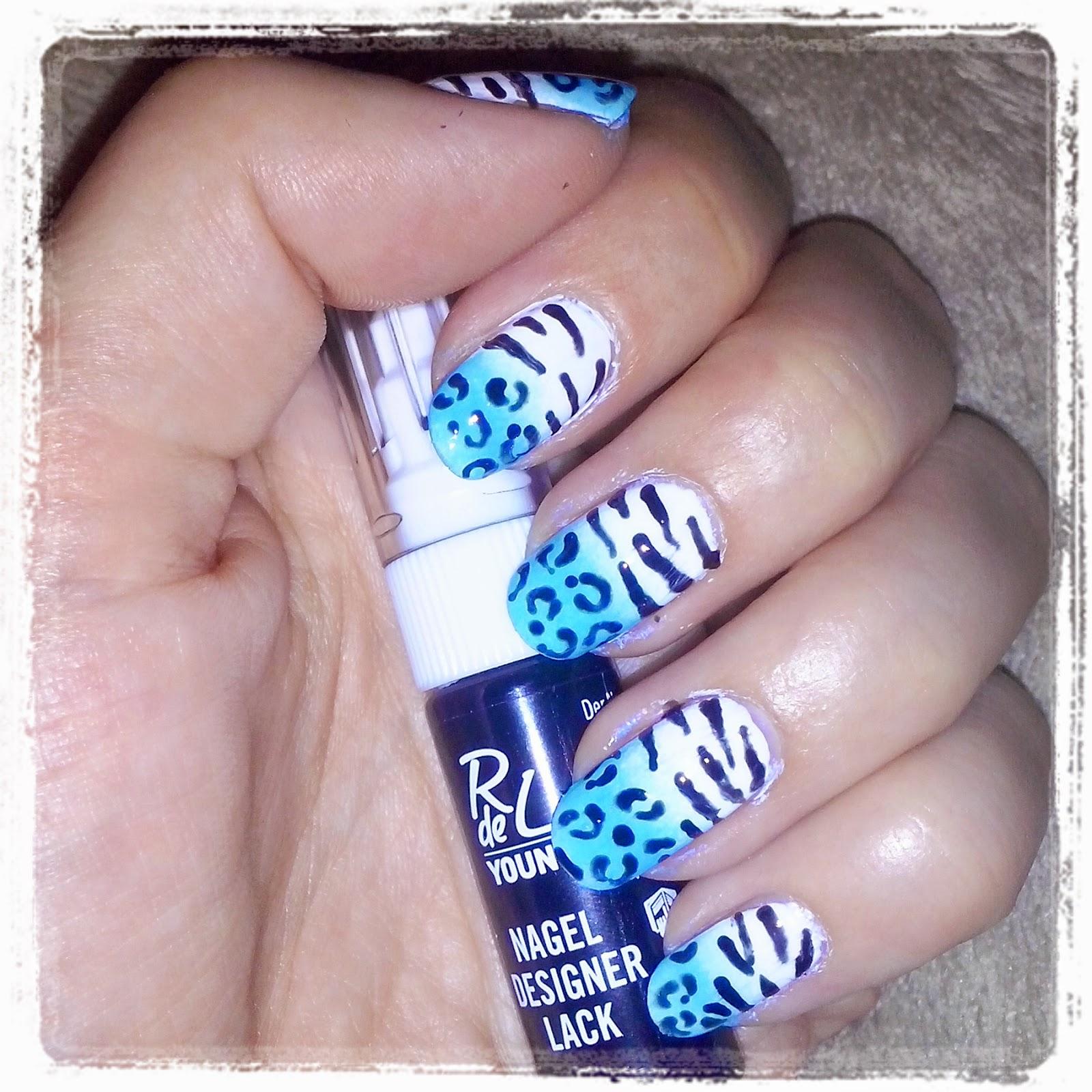 She and her...: [ Nailart ] Gradient-Leo-Zebra-Design