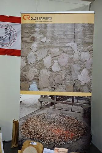 plaster texture display Salon del Restauro Florence Italy Fortezza da Basso