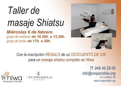 shiatsu, guadalajara, Oropéndola, Niwa, taller de masaje, cheque regalo, masaje shiatsu, intensivo, belleza, formación, espacio cultural,