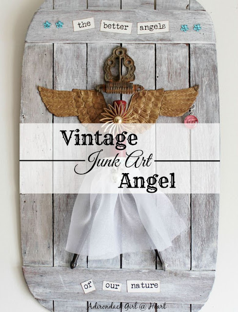 Adirondack Girl- Junk Art Angel Tutorial-Treasure Hunt Thursday- From My Front Porch To Yours