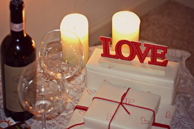 love table setting dinner for two