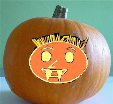 It's not a Pumpkin, it's not a Vampire, it's a Chet-O-Lantern!