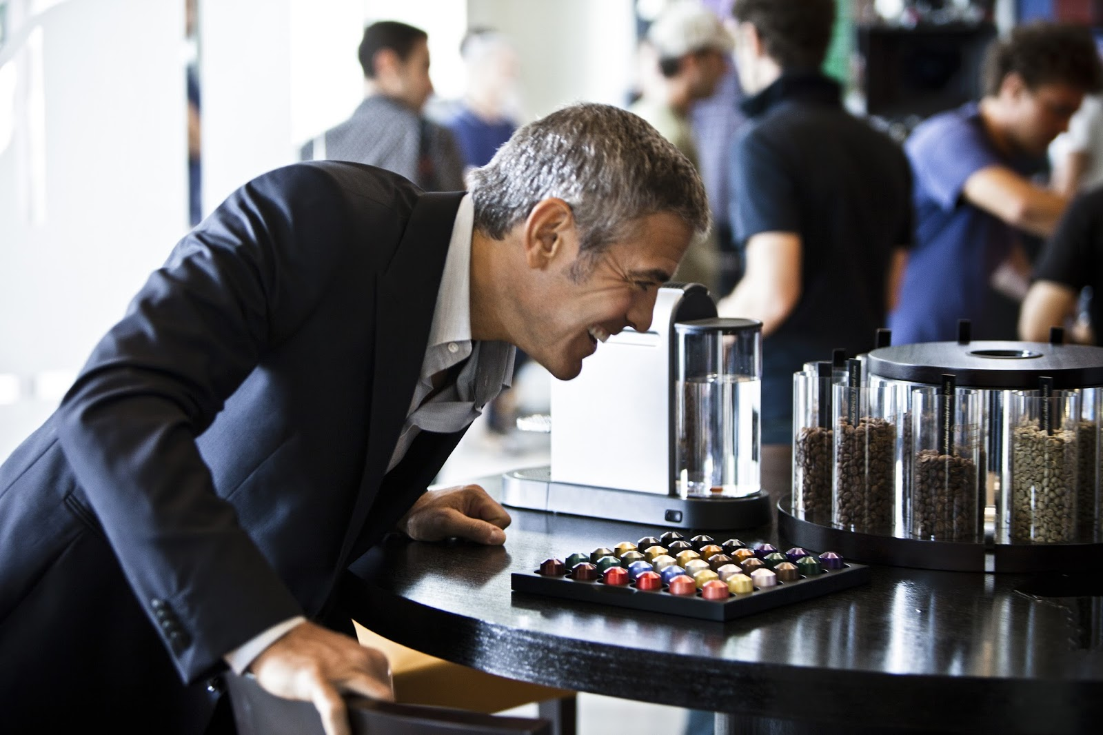 Electronic Coffee Machines George Clooney george clooney coffee machine