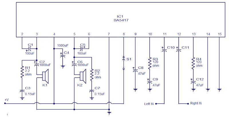 Ba5417 Stereo Power Amplifier