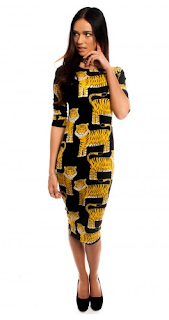 Jessica Wright, Bodycon, TOWIE, Tiger, Print, Midi, Dress