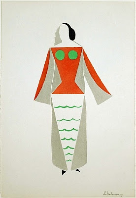 a lithograph - costume design by Sonia Delaunay
