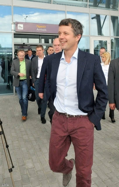 Frederik Crown Prince of Denmark in Lviv attending Euro 2012 Soccer Cup
