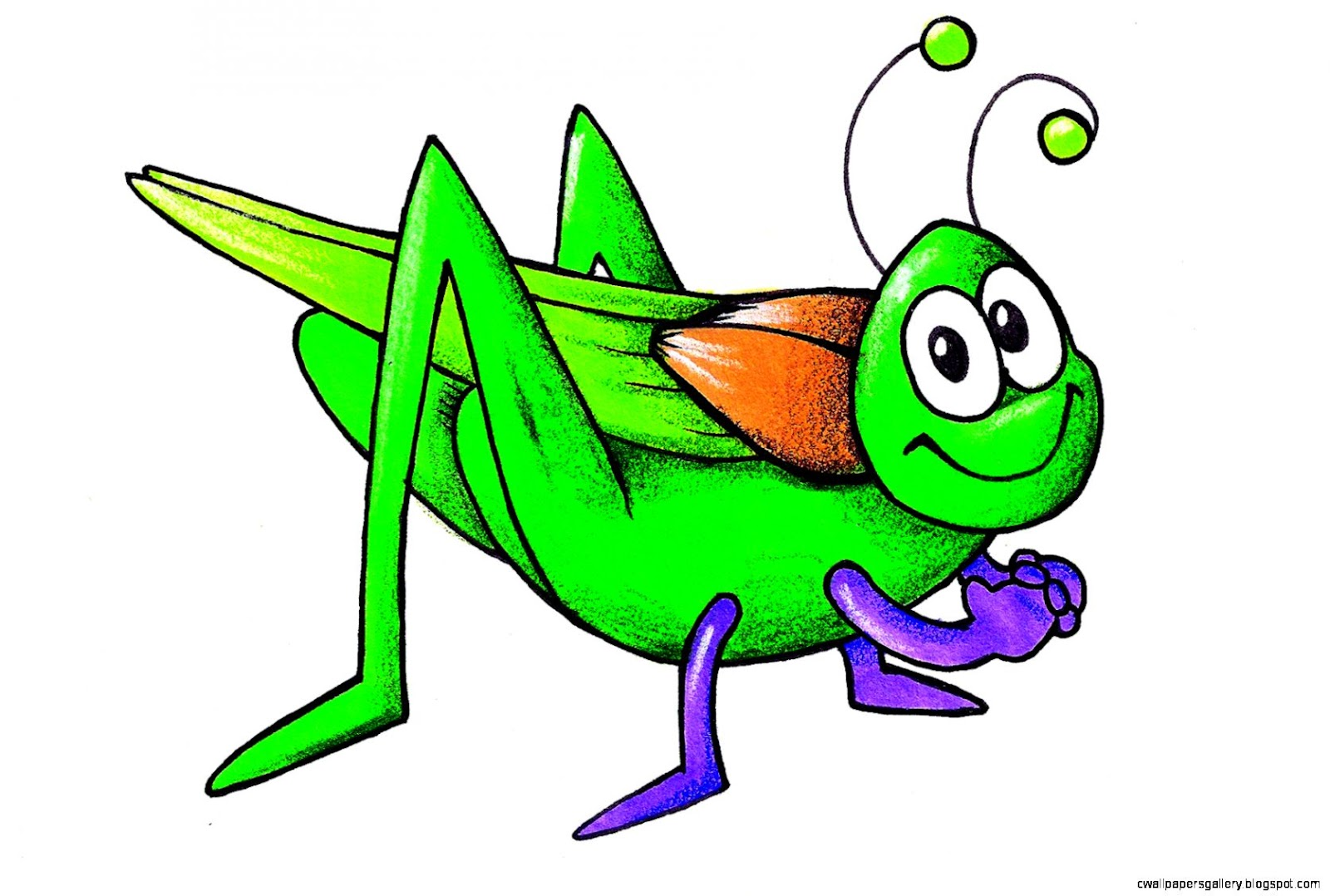 Cartoon Grasshopper Clip Art