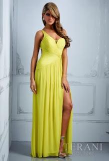 sarı gece elbiseleri