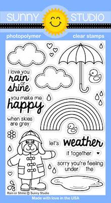 Sunny Studio Rain or Shine Stamp Set