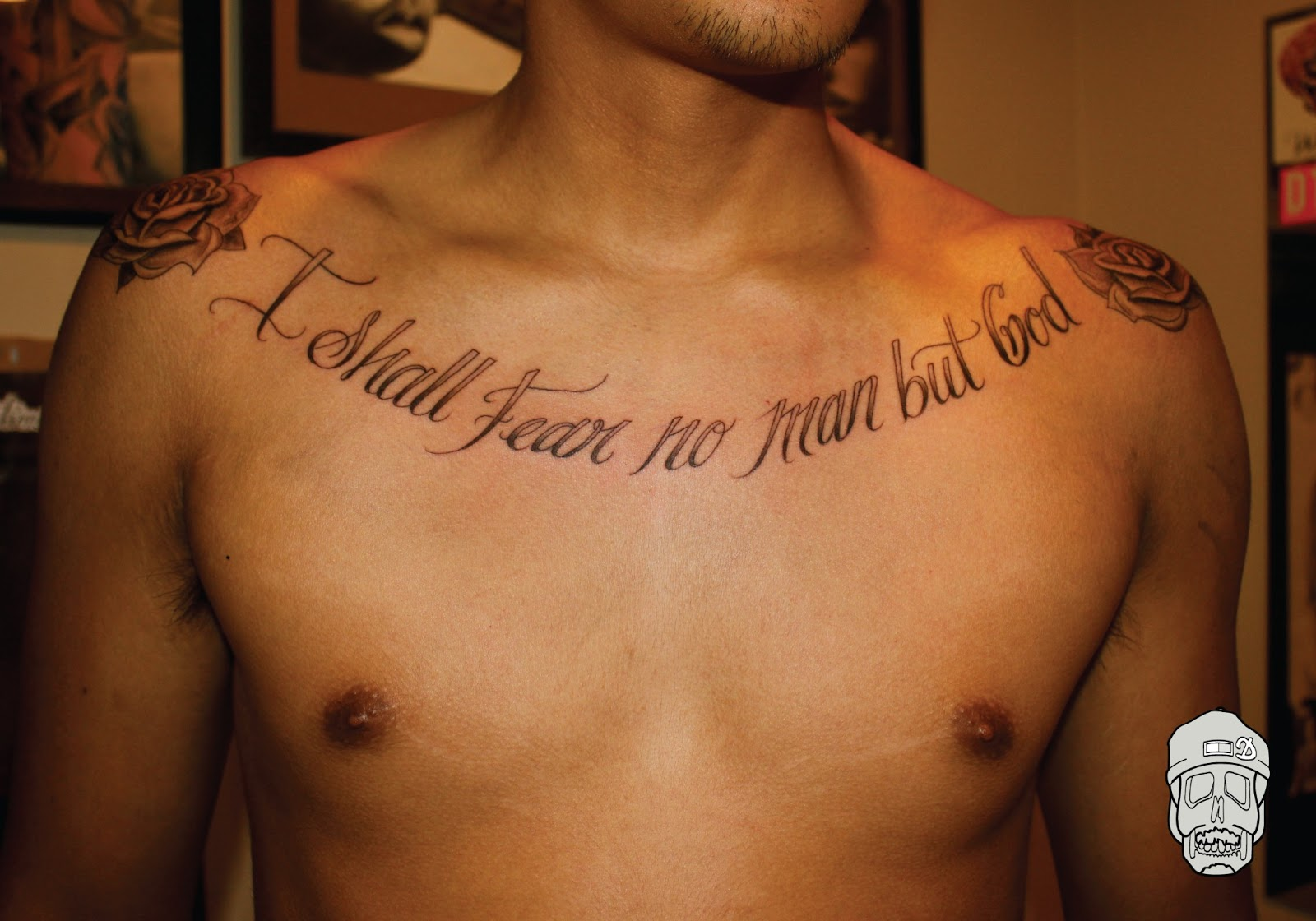 bible quotes chest tattoos for men quotesgram