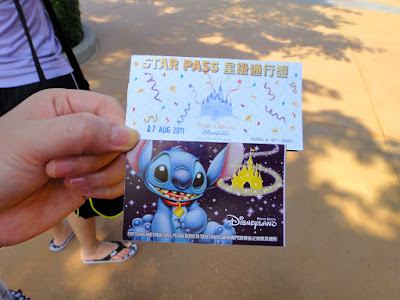 Stitch Disneyland Hong Kong Ticket