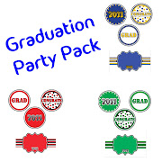 Blue and Gold Graduation Cupcake Toppers