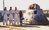 Deb with the crew of Apollo 13