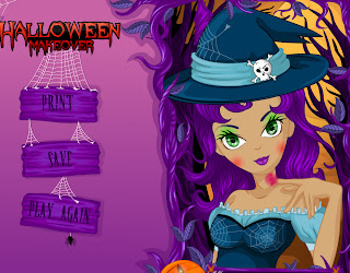 Juego de vestir y maquillar a la bruja para Halloween