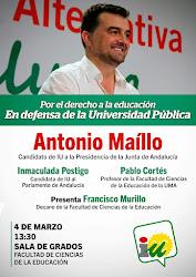 """Acto """"Por la Universidad Pública"""" con Antonio Maillo"""