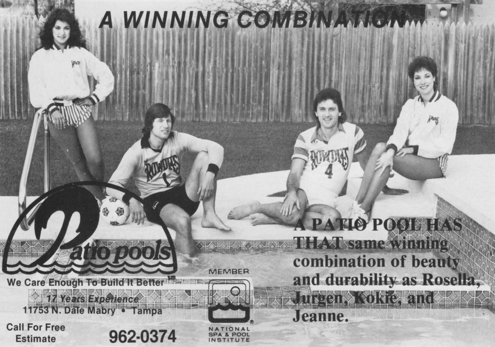 Rowdies Memorabilia   Patio Pools Advertisement
