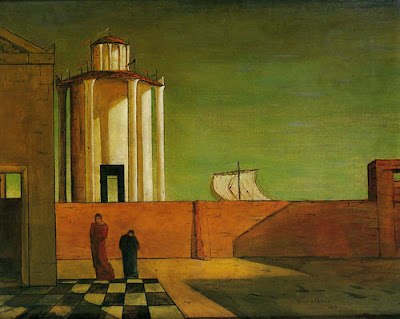 Giorgio de Chirico - The Enigma of the Arrival and the Afternoon, 1911-12.