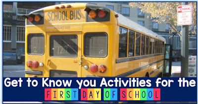 First day of school get to know you activities and 3 freebies