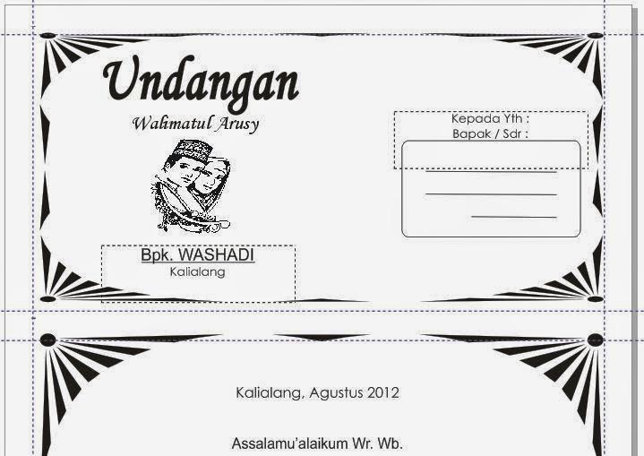 Download undangan pernikahan & walimatul ursy format corel draw gratis ...