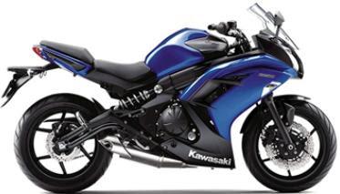 2013 Kawasaki ninja 650r blue