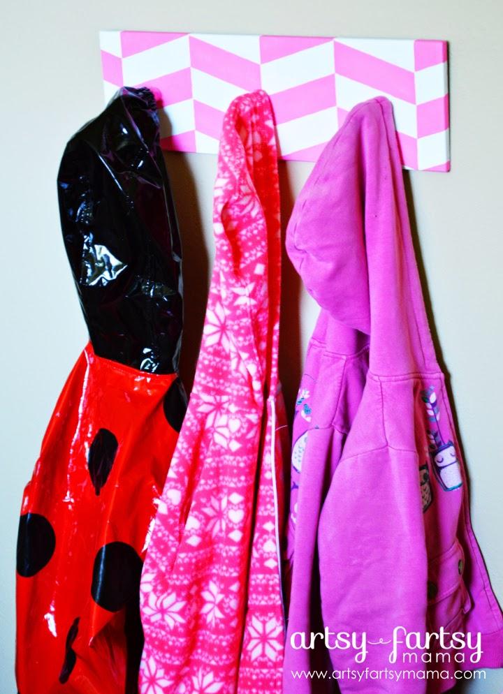 DIY Herringbone Coat Hangers