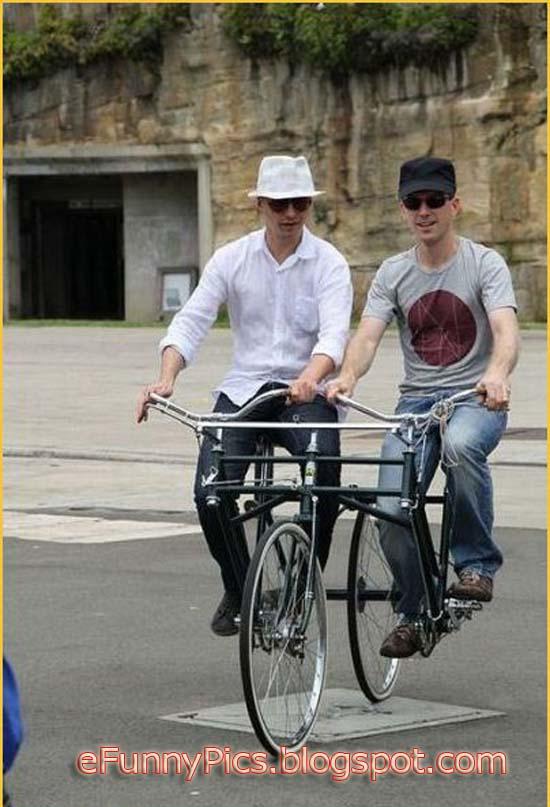Strange Tandem Bike