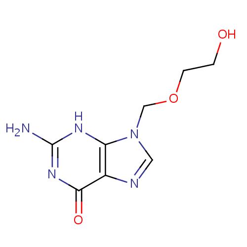 Struktur Kimia Aciclovir (Aciclovir)