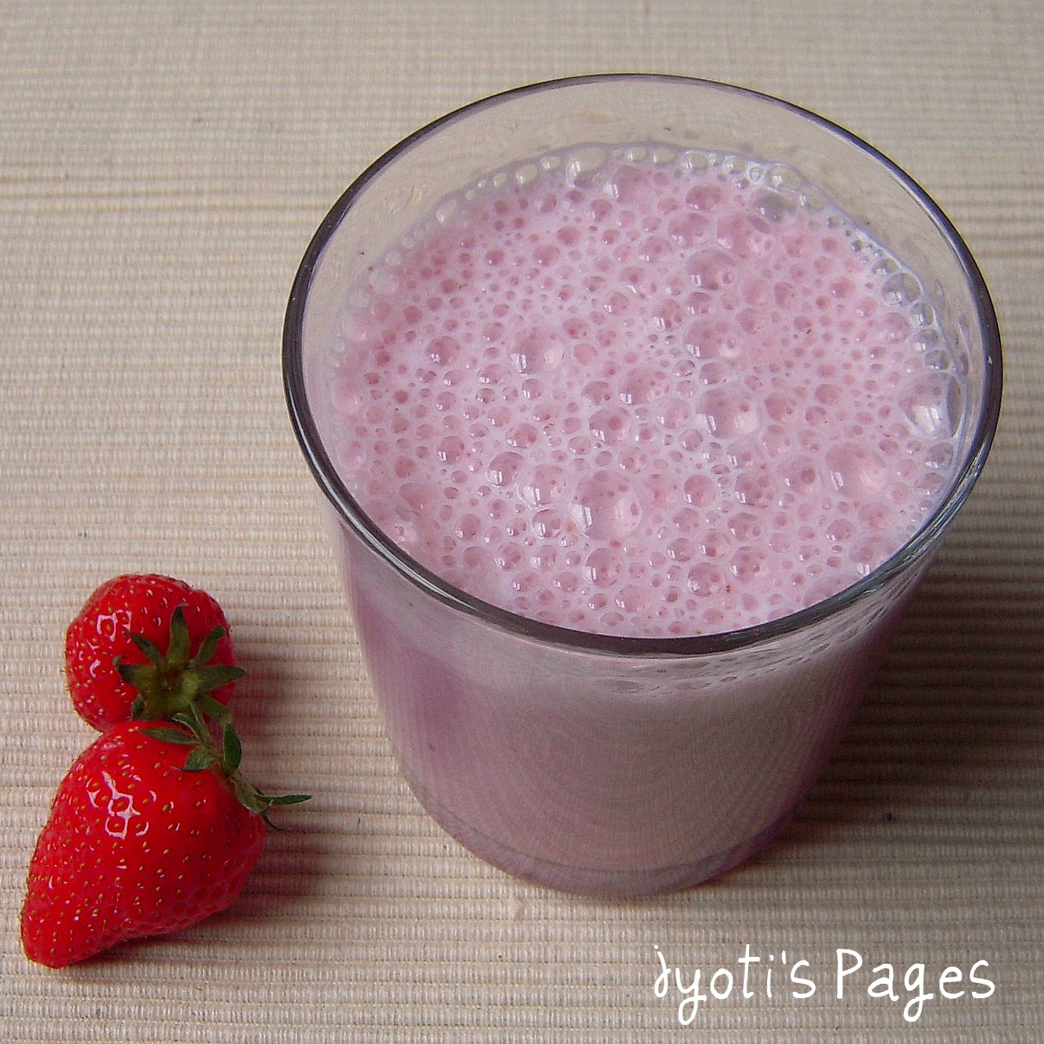 Strawberry banana shake