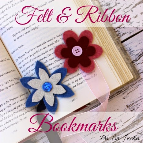 Ribbon and Felt Flower Bookmarks